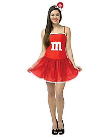 Teen Red M&M Tutu Costume - M&M's