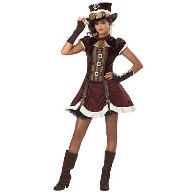 Vintage Inspired Halloween Costumes Tween Steampunk Costume $49.99 AT vintagedancer.com