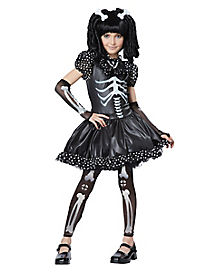 Kids Skeleton Dress Costume