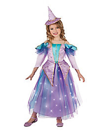 Kids Light Up Lavender Witch Costume