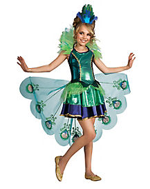 Peacock Girls Childs Costume