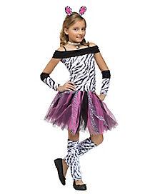 Kids Zebra Tutu Costume