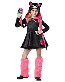 Pink and Black Cat Girls Child Costume