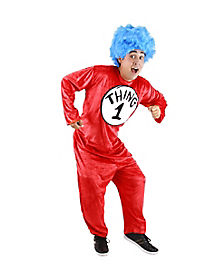 Adult Thing 1 and Thing 2 Costume - Dr Seuss