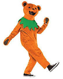 Adult Orange Dancing Bear Costume - Grateful Dead