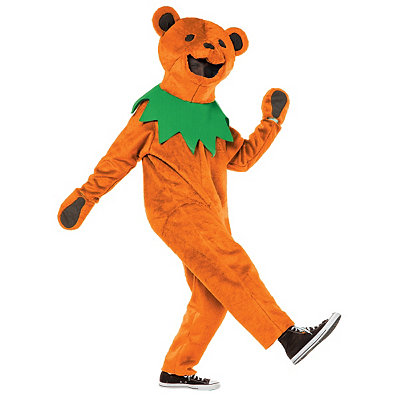 Grateful Dead Orange Dancing Bear Adult Costume