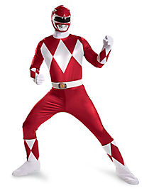 Adult Red Ranger Plus Size Costume Deluxe- Power Rangers