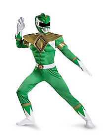 Adult Muscle Green Ranger Plus Size Costume - Power Rangers