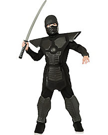 Kids Black Armor Ninja Costume