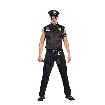 Dirty Cop Ed Banger Mens Plus Size Costume