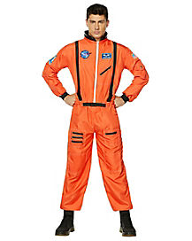 Orange Astronaut Adult Mens Costume