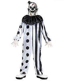 Black and White Killer Clown Child Costume
