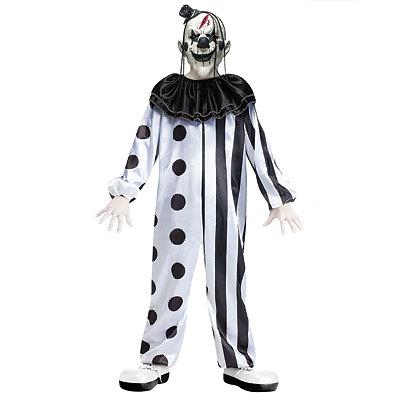 Black and White Killer Clown Child Costume