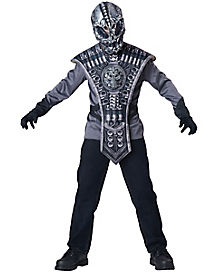 Kids Skeleton Alien Warrior Costume