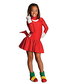 Kids Knuckles Dress Costume - Sonic The Hedgehog