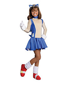 Kids Sonic Dress Costume - Sonic The Hedgehog