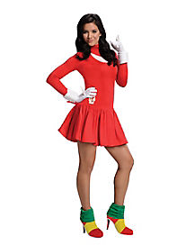 Sonic The Hedgehog Knuckles Adult Womens Costume