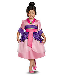 Kids Mulan Sparkle Dress Costume - Disney Princess