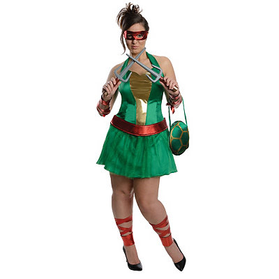 Teenage Mutant Ninja Turtles Raphael Adult Womens Plus Size Costume