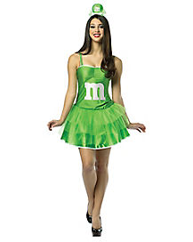 Adult Green M&M Tutu Dress Costume - M&M