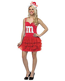 M&M Tutu Dress Red Adult Womens Costume