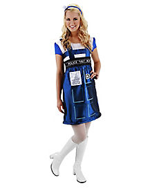 Tardis Dress Adult Womens Costume