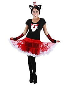 Adult Cat in the Hat Tutu Costume - Dr. Seuss