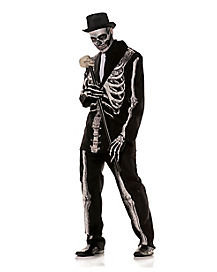 Bone Daddy Skeleton Tuxedo Adult Mens Costume