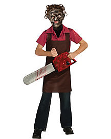Kids Brown Leatherface Apron Costume - Texas Chainsaw Massacre