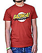 Big Bang Theory Bazinga Red Logo Adult T-Shirt