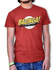 Big Bang Theory Bazinga Red Logo Adult T-Shirt