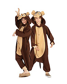 Kids Anime Monkey Onesie Costume