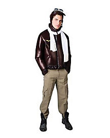 Adult Vintage Aviator Plus Size Costume