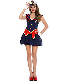 Adult Captivating Captain Dress Costume