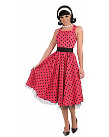 Pretty Polka Dots Adult Costume