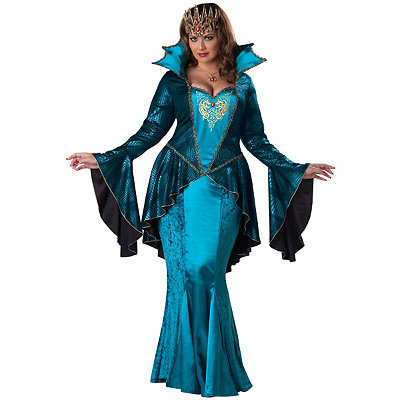 Medieval Queen Womens Plus Size Theatrical Costume