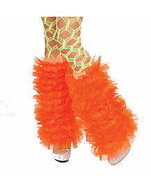 Orange Tutu Adult Womens Leg Warmers