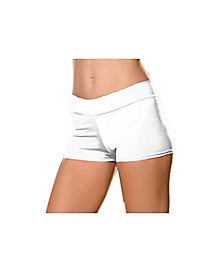 White Adult Womens Plus Size Boyshorts