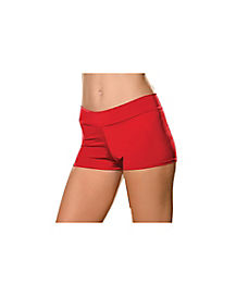Red Adult Womens Plus Size Boyshorts