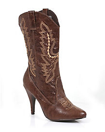 Cowboy Brown Adult Womens Boot