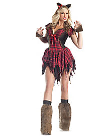 Adult She Wolf Werewolf Costume