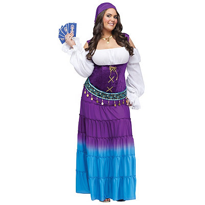Gypsy Moon Womens Plus Size Theatrical Costume