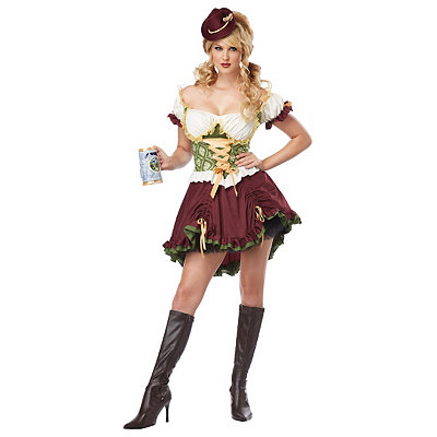 Beer Garden Girl Adult Womens Plus Size Costume