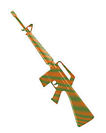 Green and Orange M16 Rifle