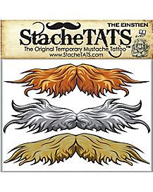 Einstein Mustache Temporary Tattoos