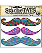 Disco Glitter Mustache Temporary Tattoos