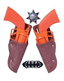 Kids Cowboy Double Gun and Holster