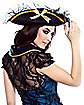 Pirate Black and Gold Lace Hat
