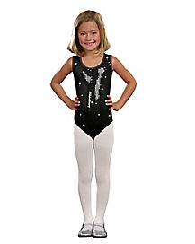 Glam Sequin Black Child Leotard