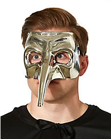 Silver Chrome Venetian Mask